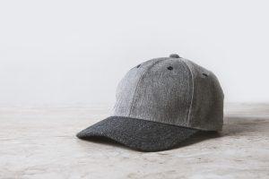 czapka z daszkiem szara