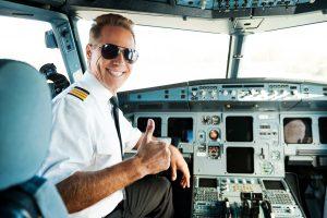 pilot szykujący się do startu